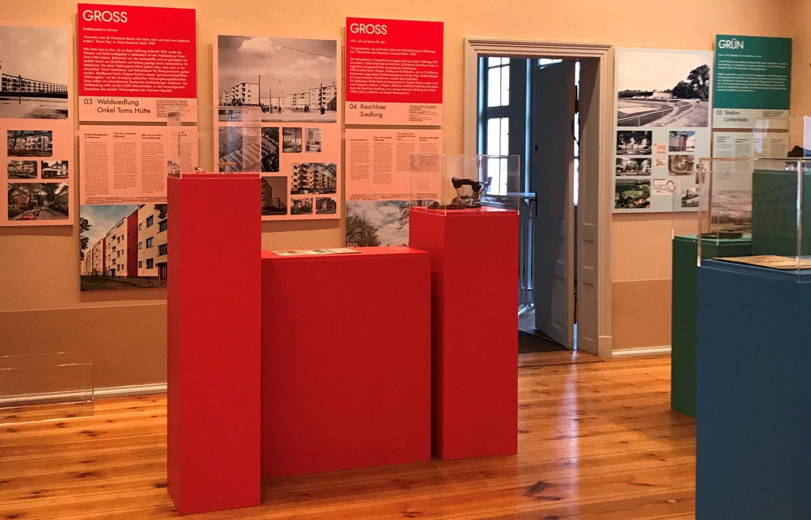 Blick in die Ausstellung Neu-Gross-Grün